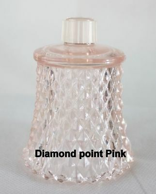 HOME INTERIORS DIAMOND POINT Pink VOTIVE CUP w/ rubber grommet
