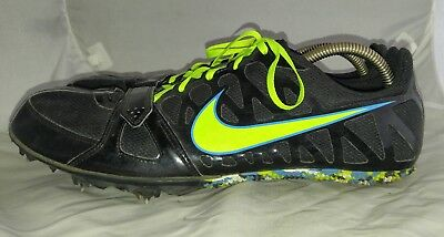 Mens Nike Zoom Rival S 6 Track Spike Running Shoes Size: 13 Color: Black