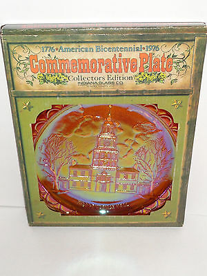 Indiana Glass Independence Hall American Bicentennial 1776-1976 Collector Plate