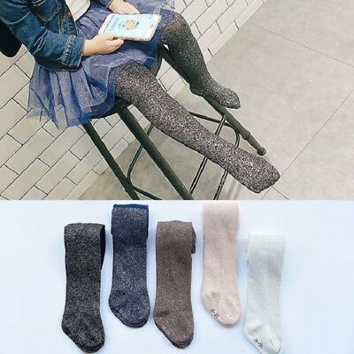 Children Pantyhose Girls Blingbling Glitter Tights Cotton Stockings Pants Socks