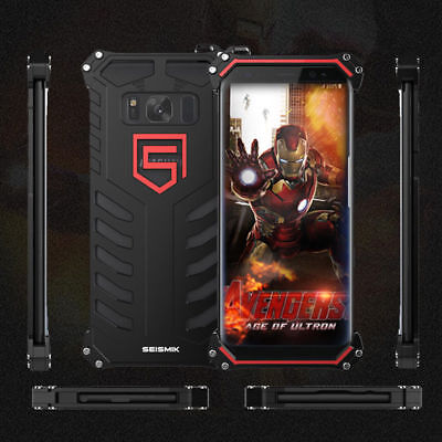 For Samsung Galaxy S7/S8 Aluminium Metal Strong Shockproof Armor Back Case Cover