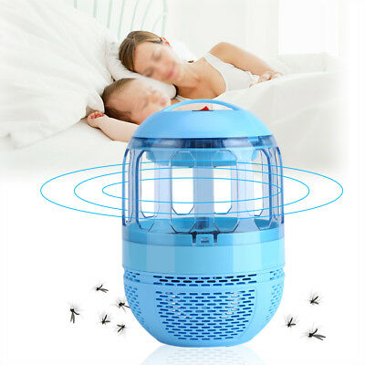 220V LED Electric Mosquito Killer Bulb Light Fly Bugs Insects Trap Zapper Lamp