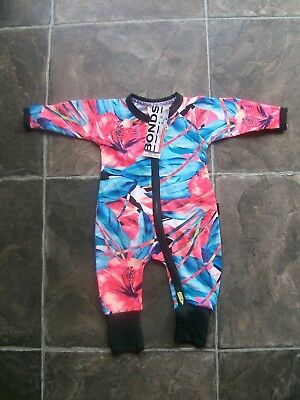 BNWT Baby Girl's Bonds Floral Zip Wondersuit/Coverall/Sleeper Size 0000, 000, 00