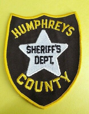 Humphreys County, Mississippi Sheriff Brown (Police) Shoulder Patch Ms