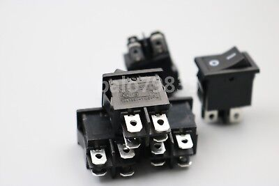 5Pcs RL3-4 4Pin 2Position ON-OFF RLEIL Plastic Maintained Rocker Switch DPST