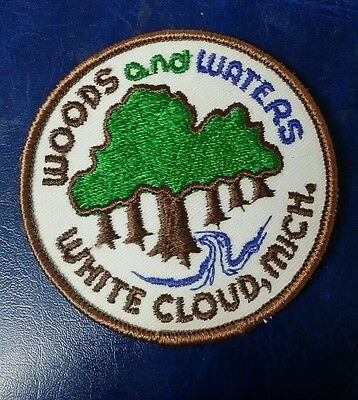 Woods And Waters White Cloud, Michigan Travel Souvenir Patch