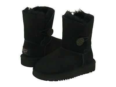 New Toddler Infants Ugg Boot Bailey Button Ii Black Water Resistant 1017400T