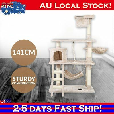 Cat Scratching Post Tree House Condo 141cm Toy House Furniture Multi level CXE