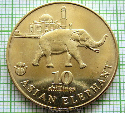 Biafra 2017 10 Shillings, Asian Elephant, Fantasy Coin