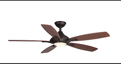 52 in. Ceiling Fan LED Indoor Oil Rubbed Bronze  Petersford