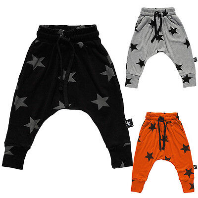 Baby Boys Girls Star Bottoms Harem Pants Toddler Infant Kids Leggings Trousers