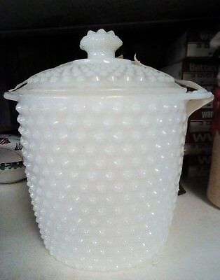 Vintage Milk Glass - Cookie Jar -Canister - Ice Bucket - Fenton - Anchor Hocking