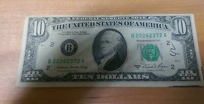 1981 Series A $10 Bill American Currency Ten Dollar Federal Reserve Note