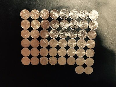 """Uncirculated Set of all 50 State Quarters """"D"""" Mint Mark"""