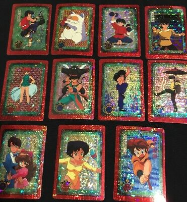 Ranma 1/2 Japanese Prism Stickers lot of 23