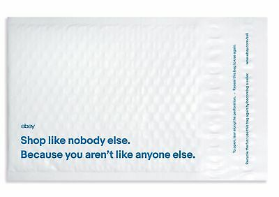 """Pack of 10 eBay Branded 6.5"""" x 8.75"""" Padded Airjacket Bubble Mailers Blue Print"""