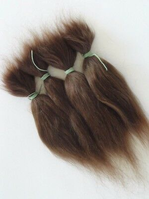 15g Brown and Blonde 100% Pure Natural Mohair Doll Hair 6 Inches For Reborn Baby