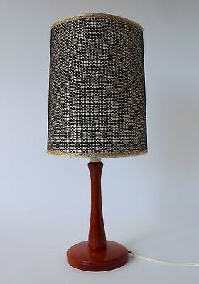 Vintage Retro 60s/70s TIMBER WOODEN TABLE LAMP w/ SHADE Mid Century Eames TEAK