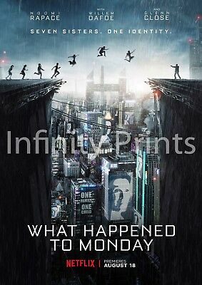 What Happened to Monday Movie Film Poster A3 A4
