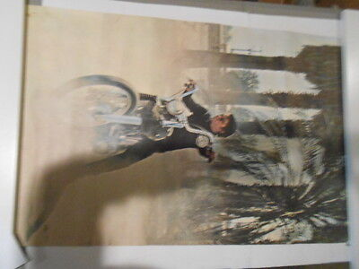 1968 Famous Faces Robert Blake Baretta On Motorcycle Poster In Color