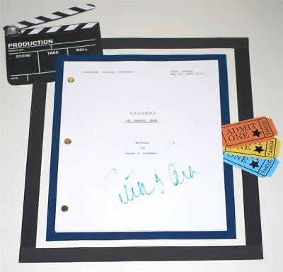 """Columbo Script """"in Deadly Hate"""" Signed Peter Falk"""