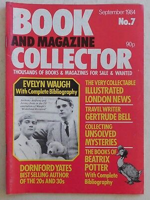 BOOK & MAGAZINE COLLECTOR #7 - 9/1984 - Evelyn Waugh, Beatrix Potter