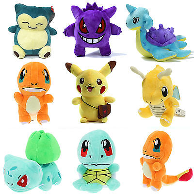 Pokemon Pikachu Squirtle Snorlax Charmander Plush Toys Stuffed Kids Teddy Gifts