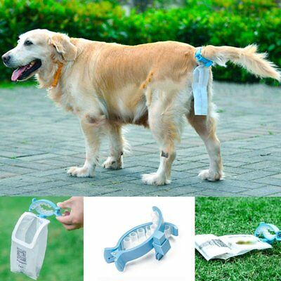 Portable Piqapoo Pet Dog Tail Holder Poo Pack Clip Waste Picker W/ 20 Poop Bags