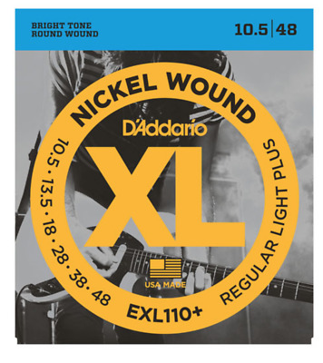 d'addario EXL110+ Nickel Wound, Regular Light Plus, 10.5-48 strings DADDARIO