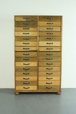 VINTAGE 1920s/1930s HABERDASHERY CABINET CHEST FILING DRAWERS #2109