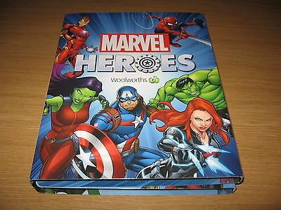 WOOLWORTHS MARVEL HEROES  DISCS - Incomplete Album & Pouch - Includes # 24