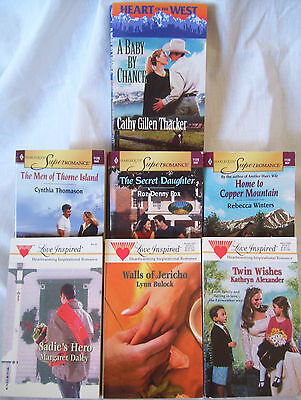 Lot of 7 Harlequin And Steeple Hill Romance Paperbacks Super Romance EUC