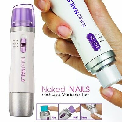 Naked Nail Care Manicure Pedicure Electric Files & Tools System Buff Shine
