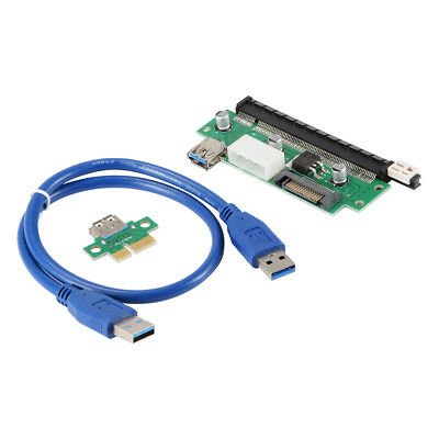 PCI-E 1x to16x Extender Riser Card Adapter Cable USB 3.0 Cable 15Pin Port AC768