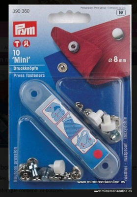Botón presion mini, PRYM, blister, 8 mm