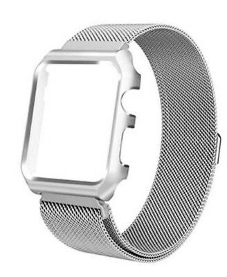 Milanese Stainless Steel Apple Watch Strap with Case Silver 38mm