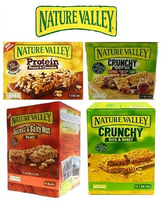 Nature Valley Protein Bars Peanut Butter Crunchy Variety Oat&Honey Sweet&Salty