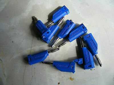 9off 4mm Banana Stackable Test Plug blue Connector  Lead End