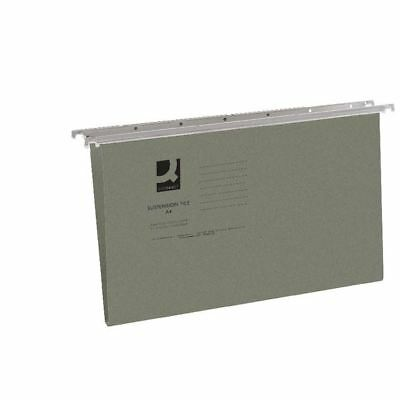Q-Connect Foolscap Tabbed Suspension Files (Pack of 50) KF21001 [KF21001]