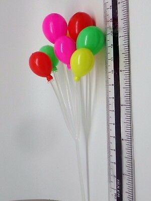 1:12th Scale Bunch Of Mixed Colour Plastic Balloons Dolls House  Toy Accessory