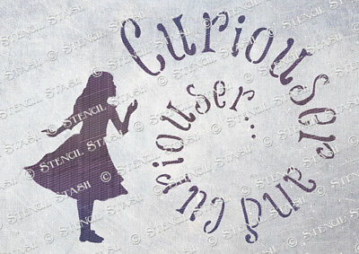 Alice Curious STENCIL A5 AC Wonderland Wall Furniture Crafts, SUPERIOR 250 MYLAR