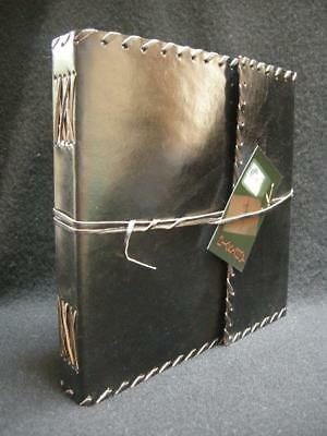 Large Handmade Sketchbook Diary Journal in BLACK Leather - Choice of Paper