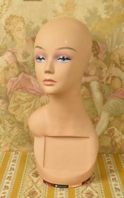 Amazing Vintage French Shop Mannequin / Bust / Millinery / Wig Stand - S039