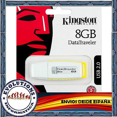 Pendrive 8Gb Kingston Memoria Usb 2.0 Pen Drive 8 Gb G3 Datatraveler No 4 16 32