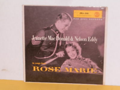 """Single 7"""" - Jeanette Mac Donald & Nelson Eddy - In Songs From Rose-Marie - Ep"""