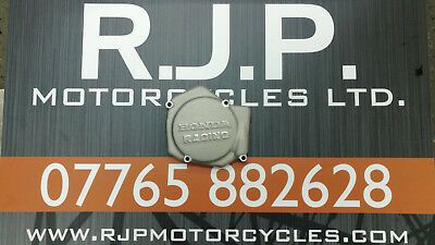 Honda Racing CR125 CR 125 Ignition Inspection Cover Sand Cast 1987 - 2007 Silver