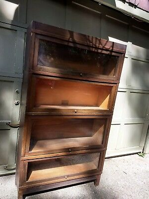 Antique Globe Wernicke  Oak Barrister 4 Stack Sectional Bookcase