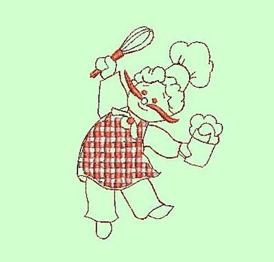 Lady Chefs - 20 Machine Embroidery Designs