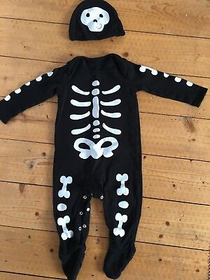 Halloween Costume Skeleton Babygrow 12-18m