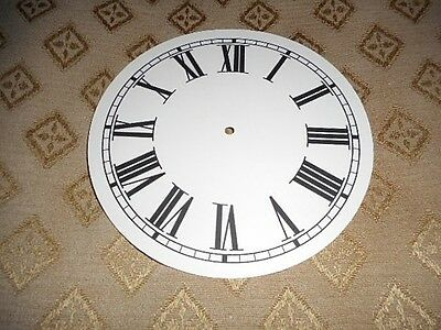 "Round Paper Clock Dial - 5"" M/T -  Roman - Matt Cream - Face/Clock Parts"